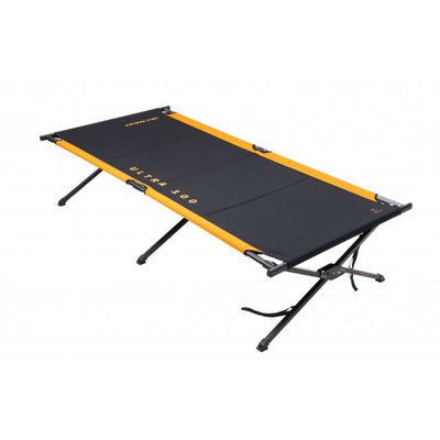 DARCHE XL 100 ULTRA Black/Orange Steel Frame Camping Stretcher Bed
