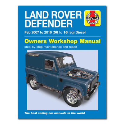 HAYNES Repair Manual 6398 Land Rover Defender Diesel (Feb 07 - 16) 56 to 16