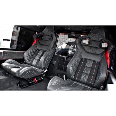 FRONT & REAR GTB SPORTS SEATS FOR LAND ROVER DEFENDER 90