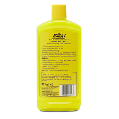 Formula 1 High Performance Carnauba Wash & Wax Premium Car Care 473ML 615016