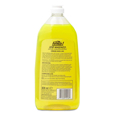 Formula 1 100 Washes Super Concentrate Wash & Wax Carnauba Car Care 828ML 615458