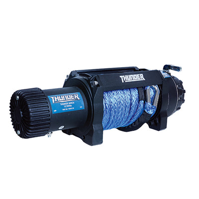 THUNDER 12 Volt 12,500LB Winch Safety Equipment TDR02125