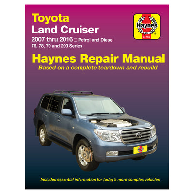 HAYNES Repair Manual 92753 Toyota Land Cruiser Petrol and Diesel (07-15)