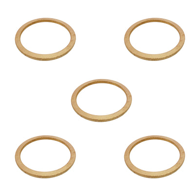 5x Copper Drain Plug Washer for Land Rover Discovery Defender Range Rover Series 1/2/2a/3 515599
