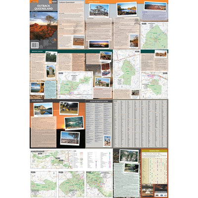 HEMA Outback Queensland Map Guide Colour Maps
