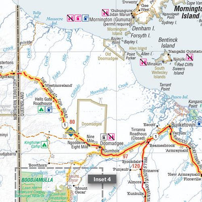 HEMA Savannah Way - Cairns to Broome Map Guide Colour Maps