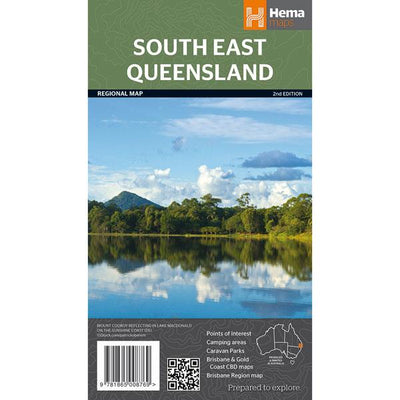 HEMA South East Queensland Map Guide Colour Maps