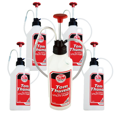 5x GENUINE 1L Tom Thumb Pump Bottle Multi Purpose Fluid & Oil CA586