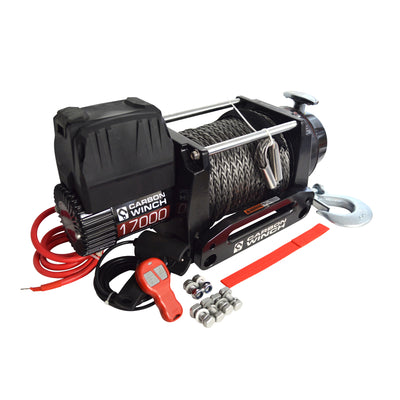 CARBON WINCHES 24V 17000lb Heavy Duty Series Winch with Synthetic Rope