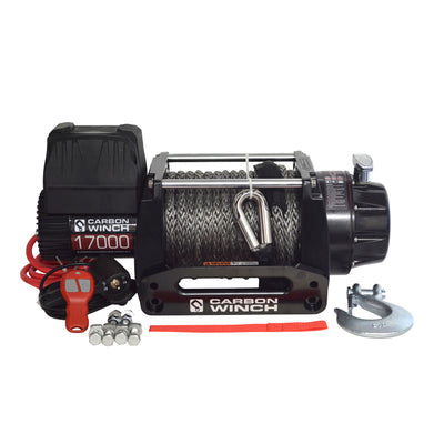 CARBON WINCHES 12V 17000lb Heavy Duty Series Winch with Synthetic Rope