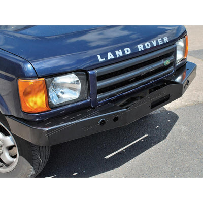 Heavy Duty Front Winch Bumper Bar Steel Black for Land Rover Discovery 2 DA5645