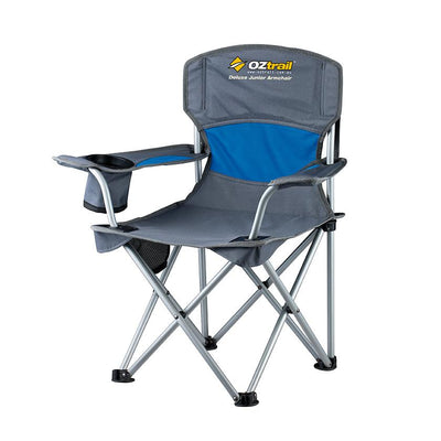 Oztrail Junior Deluxe Arm Chair Camping Blue