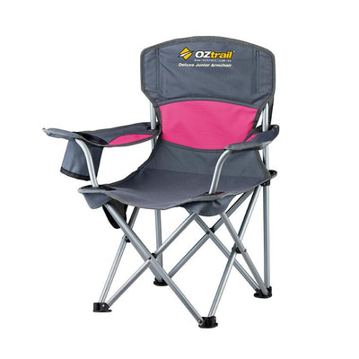 Oztrail Junior Deluxe Arm Chair Camping Pink