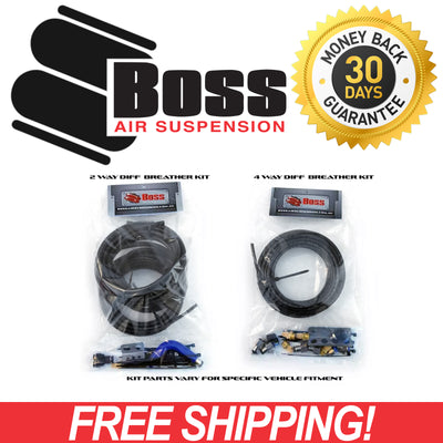 Boss 4 Way Driveline Diff Breather Factory Extension Fittings & Tube (No Breathers or Mounts) FWD-DB-HKB4WB-19