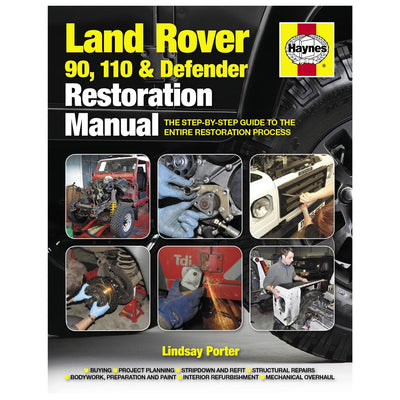 Manual Land Rover 90, 110 & Defender Restoration Manual Haynes 5479