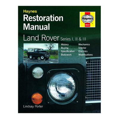HAYNES Restoration Manual H622 Land Rover Series I, II and III
