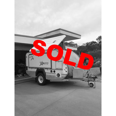 SOLD! 2014 Jurgen XCape Teardrop Camping Trailer ALMOST NEW! + Nat Luna Fridge