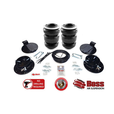 LA43T BOSS Air Bag Chev Silverado GMC 2500 / 3500 2010-2017 Triple Bellow AirBag Suspension Load Assist Kit LA-43