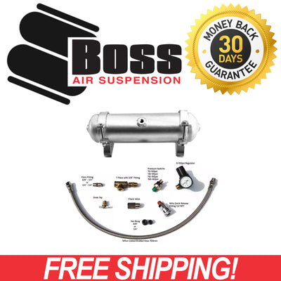 AT01 Boss 1 Gallon 3ltr 3 Port Aluminium Air Tank Complete AT01-ALUM-COMP