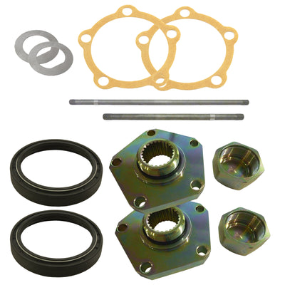 Axle & HEAVY DUTY Flange Kit Rear Land Rover Defender 110 Salisbury/Disc LRKIT15