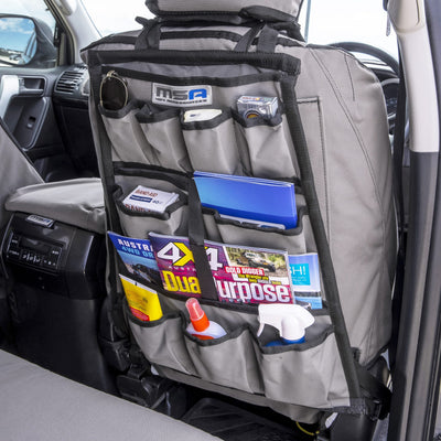 MSA 4X4 Seat Organiser Heavy Duty Canvas Organiser Compartment Storage