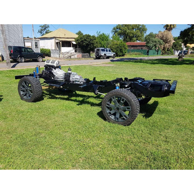 Land Rover Defender 110 Heavy Duty Galvanised Rolling Chassis w/ Engine Gearbox