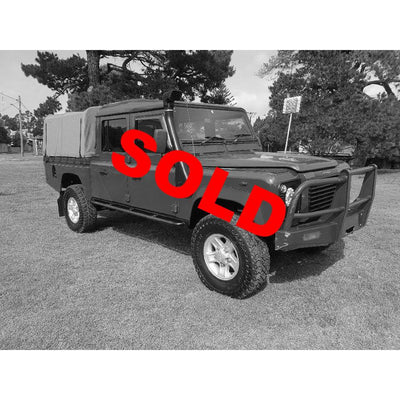 SOLD! 2003 Land Rover Defender 130 Red Dual Cab TD5 Turbo Diesel + Accessories