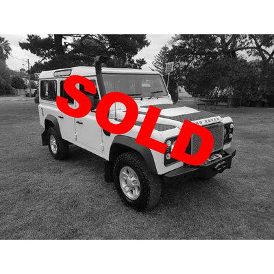 SOLD! 2007 Land Rover Defender 110 Puma 2.4L White *Good Condition* + Accessories
