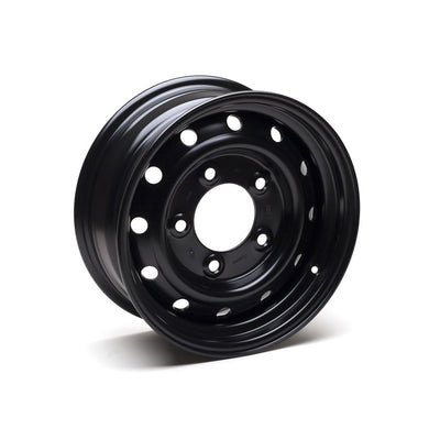 "Wolf Steel Rims 16x6.5"" BLACK Heavy Duty SET OF 5 Rims Land Rover Puma/TD5/Perentie ANR4583PM"