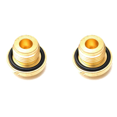 2x BRASS Coolant Filler & Diff Plug Land Rover 2/300Tdi Defend Disco 1 2 ERR4686
