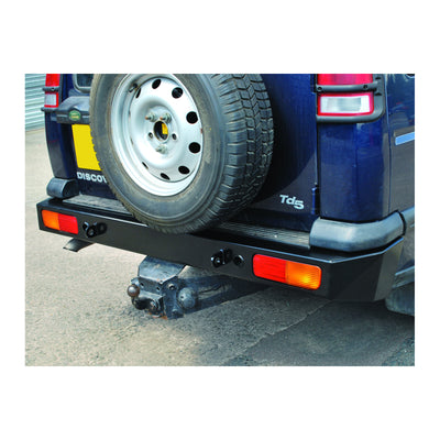 Bumper Bar Rear Heavy Duty Steel Black Land Rover Discovery 2 DA5646