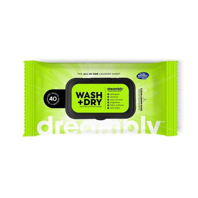 DREAMBLY 6 in 1 Detergent + Dryer Laundry Sheets Caravan Camping Travelling Wash