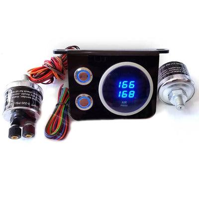 Boss Digital LED Gauge Panel & Switches for Air Suspension GPANEL-D1-COMP
