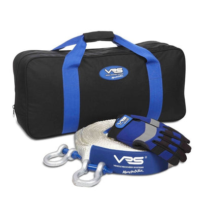 VRS 4WD 4X4 Snatch Recovery Kit Snatch Strap Shackles Bag Gloves VRSSKIT