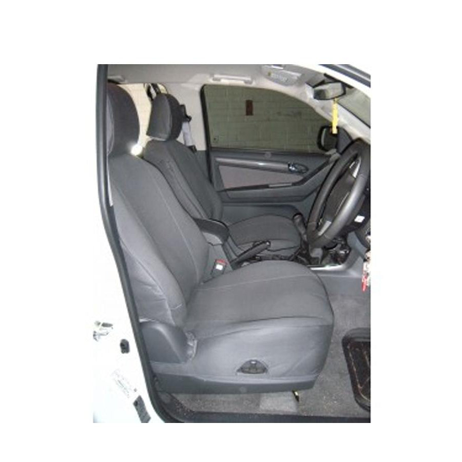 LAND ROVER DISCOVERY 3 Front Waterproof Seat Cover Set Black DA2822BLACK