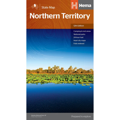 HEMA Northern Territory State Map Detailed Information Guide Colour Map