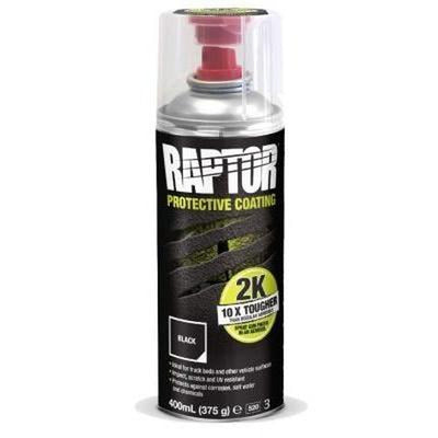U-POL RAPTOR 2K Aerosol Tough Protective Coating Black 400ML Bed Liner