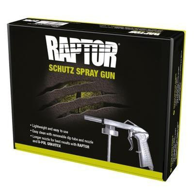 U-POL RAPTOR Lightweight Long Nozzle Schutz Spray Gun
