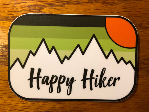 The Fading Hiker Sticker