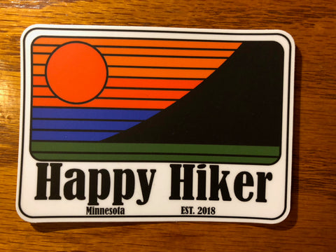 The Retro Hiker Sticker