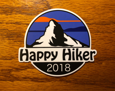 The Mountain Hiker Sticker