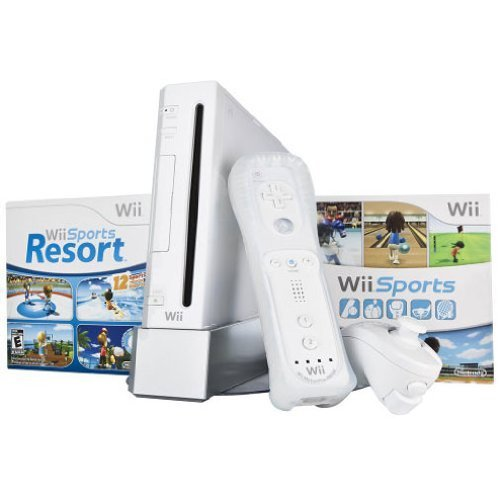 Refurbished Wii Bundle With Wii Sports & Wii Sports Resort White