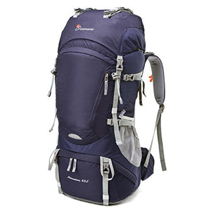 Mountaintop 65L Internal Frame Backpack Hiking Backpack with Rain Cover