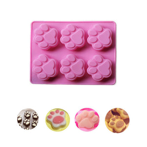 Cat Paw Print Silicone Cookie Cake Candy Chocolate Mold Soap Ice Cube Mold