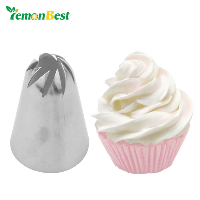 LemonBest Cream Piping Nozzles Fondant Tip Nozzle Tool For Pastry Cake Decorating