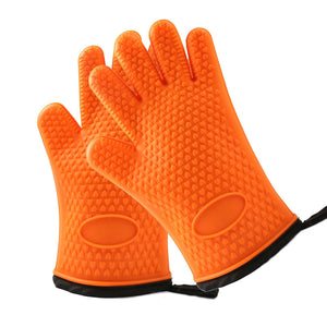 Silicone Kitchen Gloves for Cooking, Baking, Grilling - Heat Resistant Oven Mitts