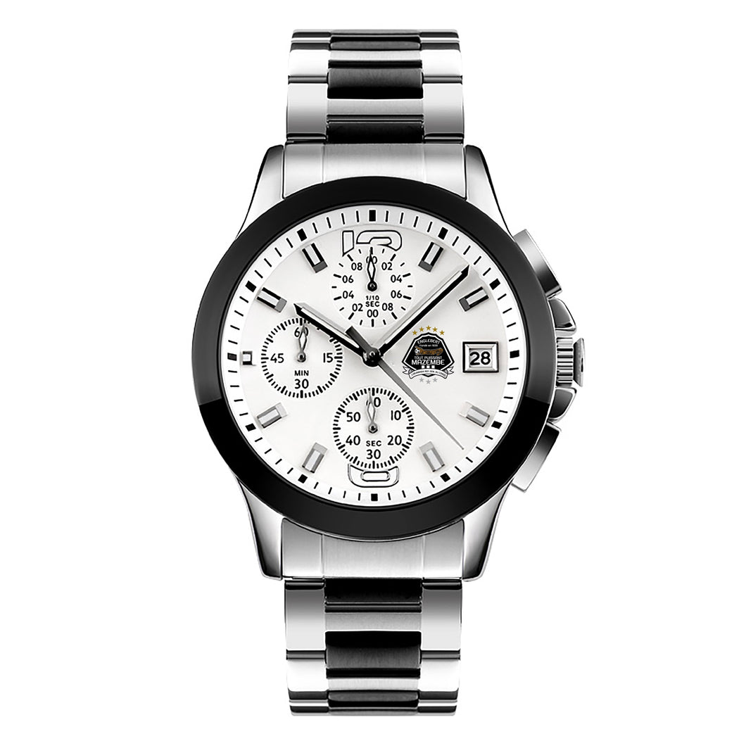 TP MAZEMBE Stainless Steel Watch - Silver - Black - White