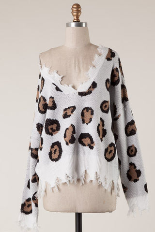 On the Prowl Leopard Knit Sweater