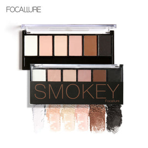 FOCALLURE 6 Colors Eye Shadow Makeup Shimmer