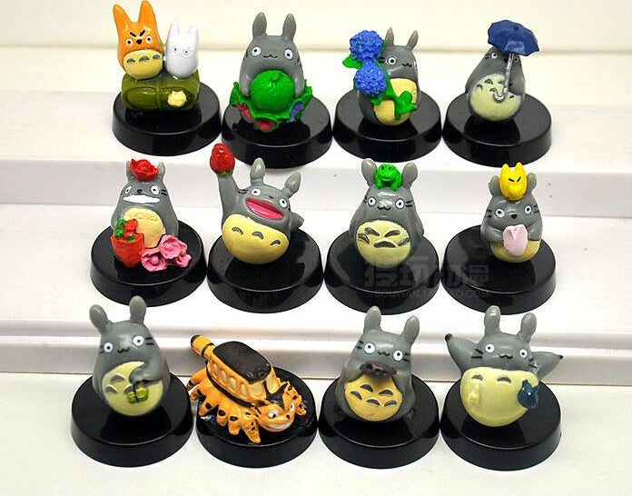 Anime MOVIE My Neighbor TOTORO Figures with base 12 pc